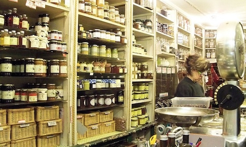The historic Drogheria Torrielli in Via San Bernardo 32 in Genoa: here you can travell around the world thanks to a thousand scents: spices, tea, precious coffee, jams, herbs... You only need some patience. (photo by Olivia & Marino, flickr)