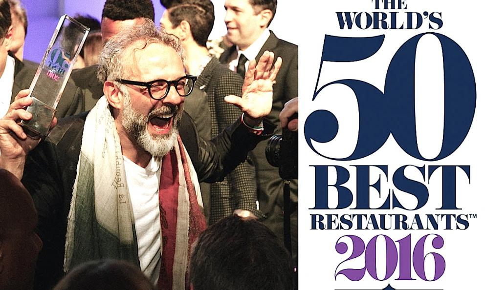 A journey back in time for Massimo Bottura. From the 19th of June, when he won in Bilbao, in Spain, to the 13th of June 2016, when he was first in the 2016 World's 50 Best Restaurant in New York