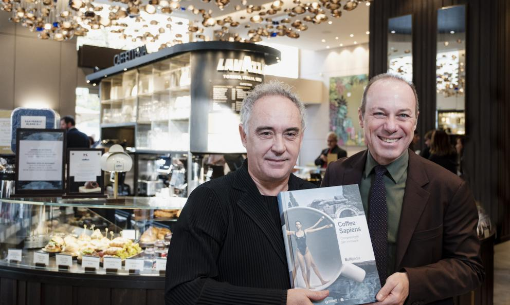 Ferran Adrià and Giuseppe Lavazza at the presentation of Coffee Sapiens, a few days ago in Milan