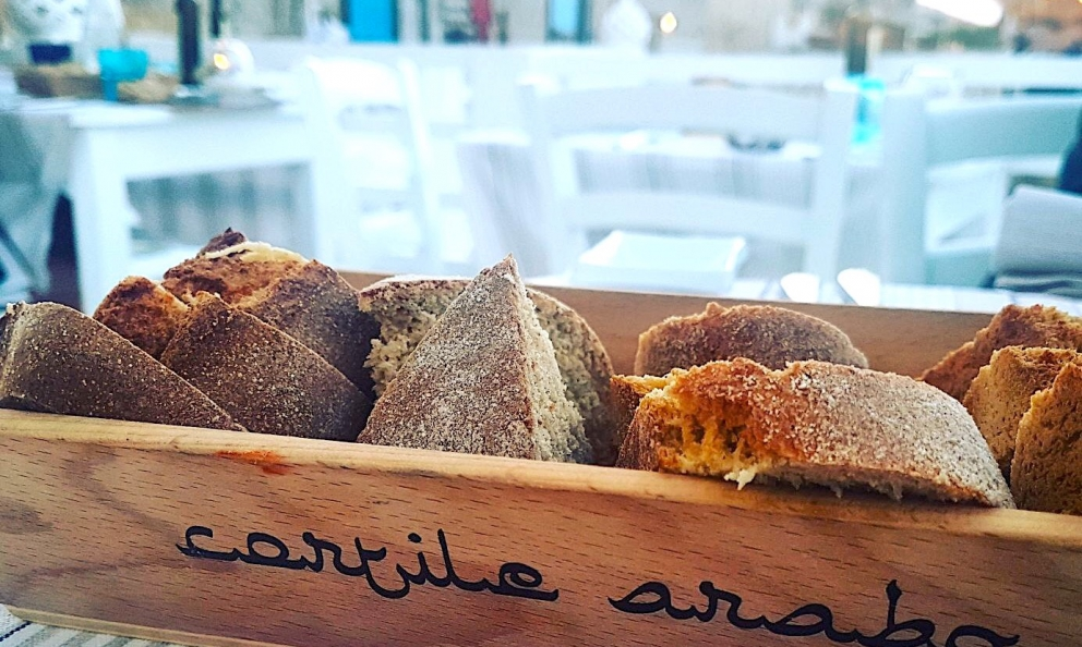 Bread at Cortile Araboin Marzamemi: made with flour from ancient Sicilian wheat varieties