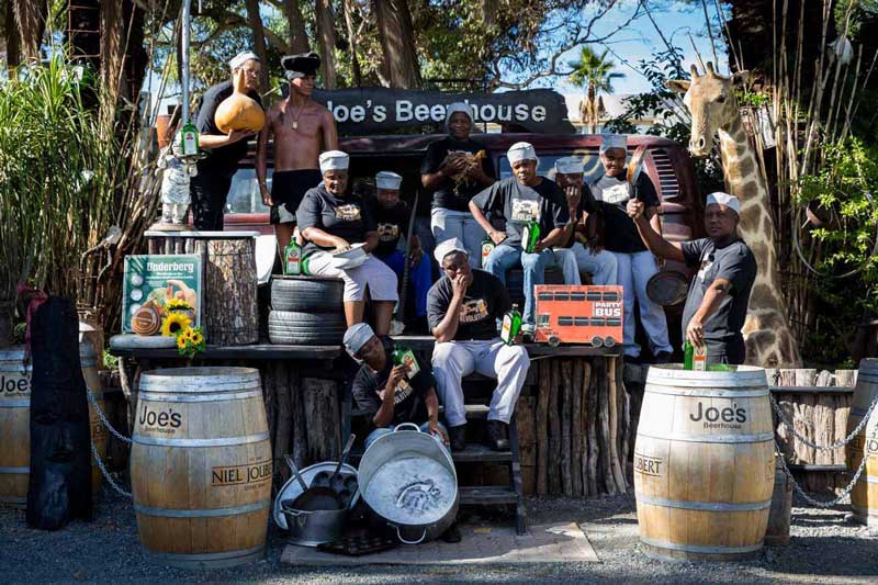 Joe's Beerhouse in Windhoek, capital of Namibia, in 160 Nelson Mandela Avenue