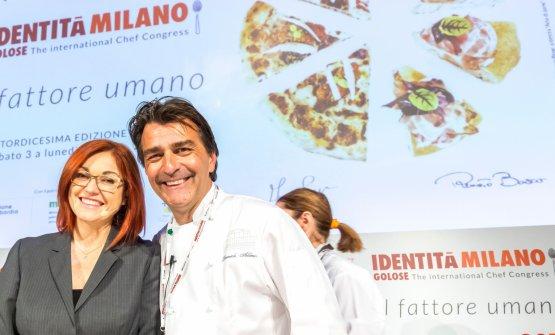 AllénowithEleonora Cozzella, who presented Identità di Pasta