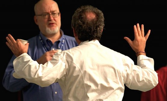 Bob Notoand, from behind,Ferran Adrià