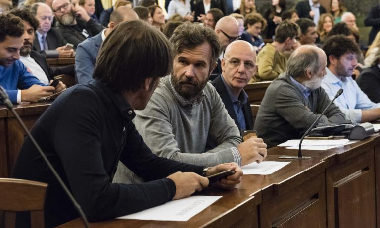 Big names in the first row, in the Sala Cavour at MIPAAF: among the many participants, Davide Oldani, Carlo Cracco, Franco Pepe, Corrado Assenza and Cesare Battisti