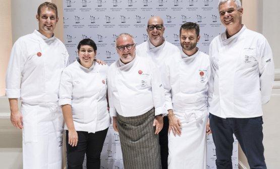 """At the end of the congress, """"7 chef per Amatrice"""" saw the participation of Salvatore Salvo,Martina Caruso,Antonello Colonna,Paolo Brunelli,Enrico BartoliniandPietro Leemann"""
