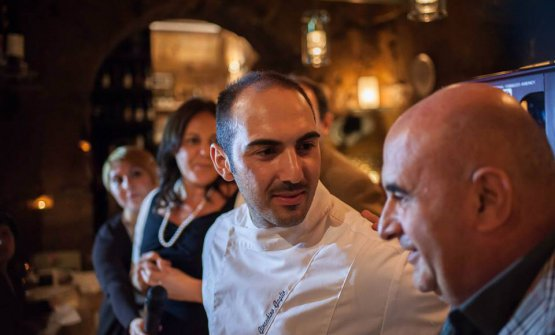 A closeup of Gioacchino Gaglio and, to the right, Franco Virga. They are the two minds behind Gagini and other restaurants making the gourmet scene in Palermo more contemporary