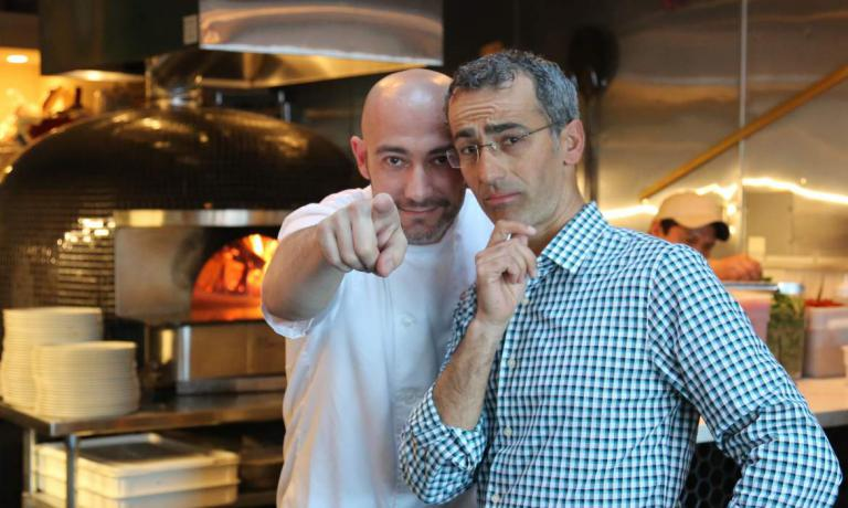 Maico Campilongo, right, with Apulian chef Krystian D'Angelo. Together with Maico's brother Franco, they are the ones behind the success story of restaurant-pizzeria Terún in Palo Alto, California