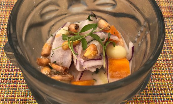 Diego Oka's ceviche. The Peruvian talent has been at the helm of restaurant La Mar by Gaston Acurio part of the Mandarin Oriental Hotel in Miami, Florida, for the past four years
