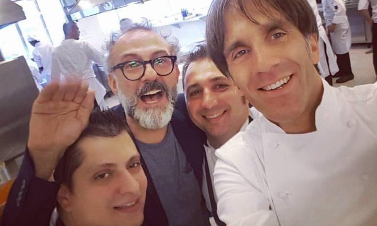 Massimo Bottura and Davide Oldani are in Rio de Janeiro, respectively at Refettorio Gastromotiva and Casa Italia. Ready, steady... cook. Here's what's going on