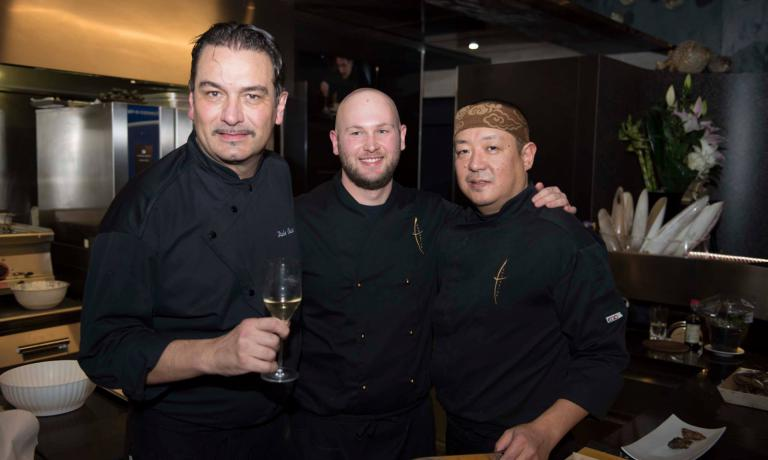 Italo Bassi with Masaki Inoguchi, a great master in the art of sushi, and young and talented Ivan Bombieri. The two cooks joined him in his adventure at Confusion in Verona. The chef, previously at Pinchiorri, opened in Porto Cervo too and will soon arrive in Rome, as he tells Identit� Golose