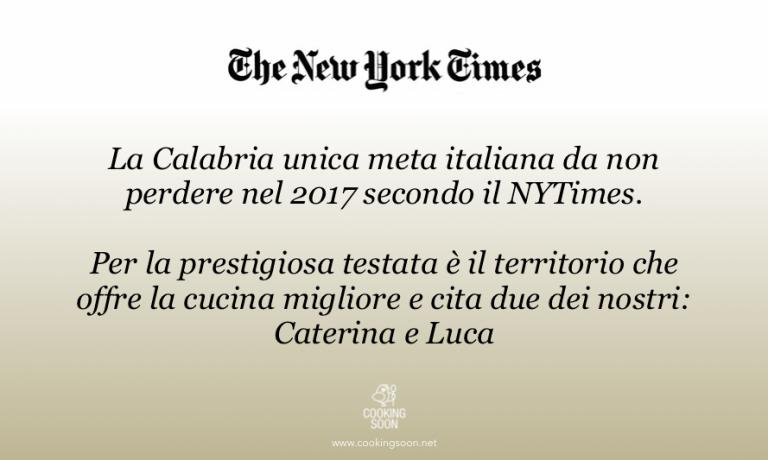 Cooking Soon rejoices thanks to the acknowledgement given by the New York Times