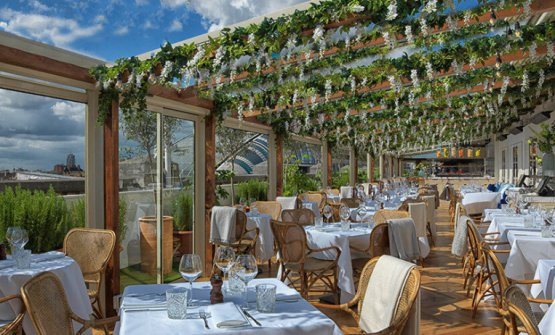 The rooftop at restaurant alto inside Selfridges, London, the location of the special Viaggio in Italia dinner event