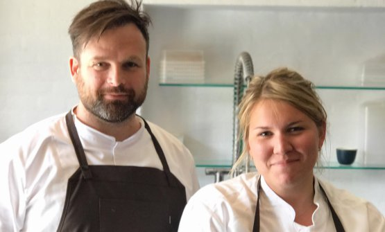 Thorsten Schmidt, chef and creator of Barr, with head chef Mia Christiansen