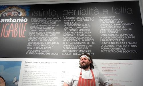"Close-up, the chef from Viareggio Cristiano Tomei. A few months ago he moved his Imbuto to the Lu.C.C.A. - Lucca center of contemporary art, tel. +39.0583.491280, a centre which, until June 9th 2013, will host Antonio Ligabue's exhibition ""Instinct, genius and folly"", three words that are also suitable to describe the chef born in 1974"