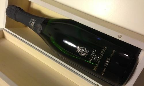 Champagne Blanc des Millenaires (vintage 1995) by Charles Heidsieck, a generous 100 chardonnay champagne. A good option to celebrate, just like Emeraude Brut Alain R�aut, Eclat Saten Santa Lucia and Blauwald Cesconi