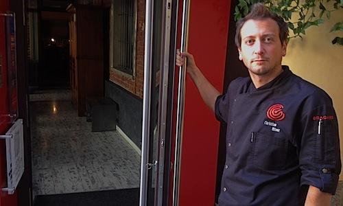 Thirty-four year old Christian Milone opens the doors of Trattoria Zappatori's Gastronavicella in Pinerolo (Torino), tel. +39.0121.374158. A lunch full of flavour and with a high standard of technique awaits us