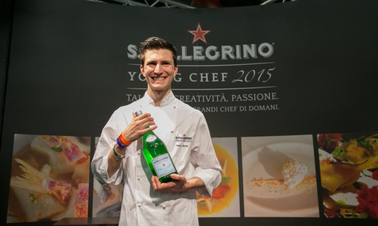 From May 1st we will all be at Identit� Expo. With us, the sponsors who allowed the creation of a staggering reality that will host 200 great chefs, over 450 events and 184 days dedicated to taste and innovation. In the photo, Paolo Griffa, chef at Piccolo Lago in Verbania, winner last February of the Italian finals of the Young Chef of the Year contest,organised by S.Pellegrino. The highly awaited world finals will take place on Friday 26th June