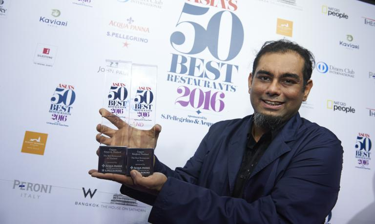 Gaggan Anand, chef at Gaggan in Bangkok, awarded as best Asian chef in the Asia's 50 Best Restaurants for the second year in a row