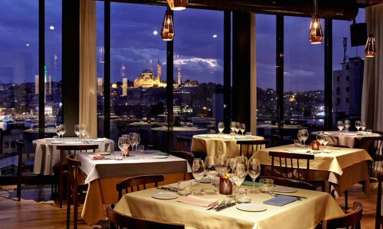 The dining room at Neolokal, on Karaköy's Bankalar inIstanbul, Turkey. Maksut Aşkar's restaurant, telephone +90.212.2440016 charmed Italian colleague Cristina Bowerman, author of this piece