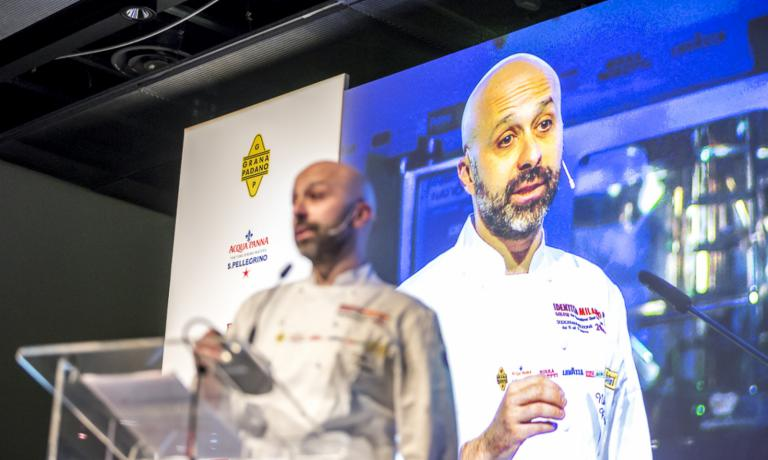 Niko Romito at Identità Milano (he will also partecipate at the next Identità New York, october 4-6 at Eataly NY). The chef reveals at Identità Golose his new projects and ideas
