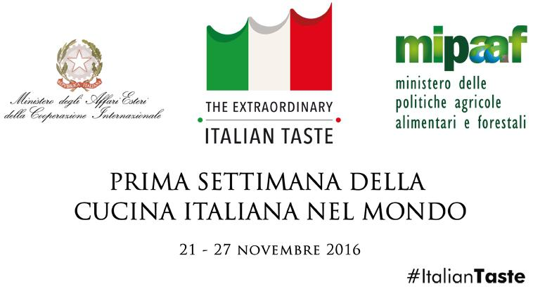 Starting today, Monday 21st, and until Sunday 27th November, the first Week of Italian cuisine in the world is taking place. This debuting important event has the involvement of three ministries (Agricultural Policies, Foreign Affairs and Economic Development), with the support of Identità Golose and association Ambasciatori del Gusto. 295 diplomatic offices all around the world are involved