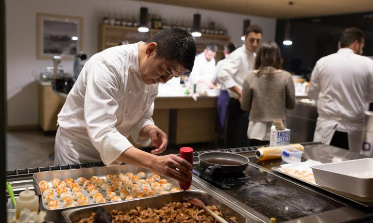 Nobuya Niimori at work at Ferrowine