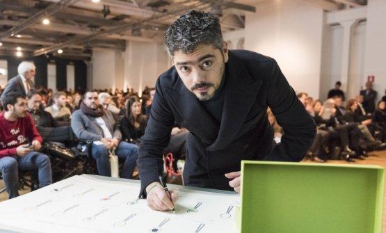 Matteo Baronettoat the presentation of Guida Identità Golose 2017