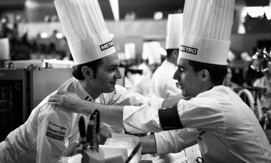 PoulainwithMartino Ruggieri, chef of the Italian team