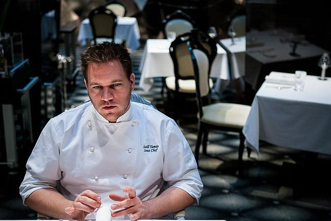 Tamás Széll,born in 1982, souc-chef at Onyx, which got the first Michelin star in 2010 (photowww.budapesttelegraph.com)