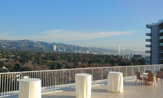 The view from the Beverly Hilton