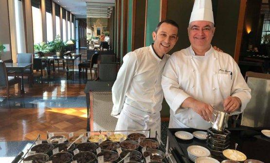 Tamburini with pastry chef Laurent Ganguillet
