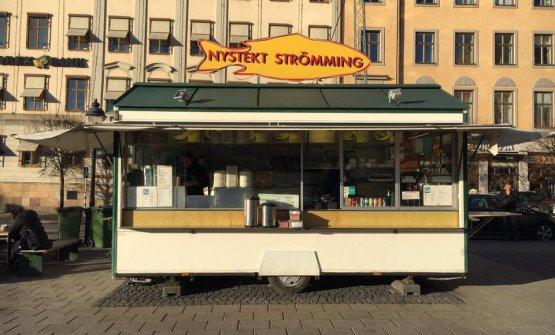 Nystekt Strömming, a popular food truck in Stockholm