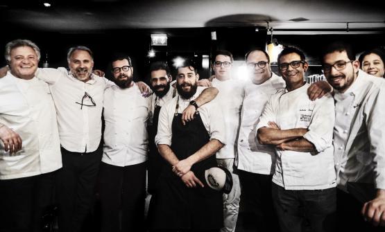 Peppe Guida,Mauro Bochicchio,Eugenio Boer,Christianand Manuel Costardi,VitantonioLombardo,RobertoPetzaand Antonio Biafora(photo by Marco Varoli)