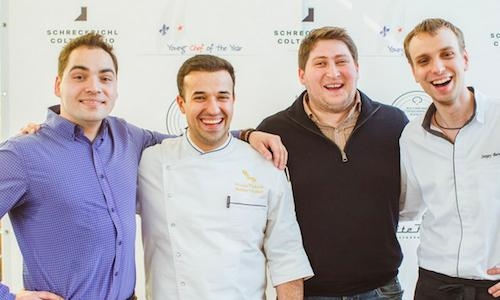 Four of Moscow's most interesting chefs: left to right, Anatoliy Kazakov (restaurant Bon), Vladimir Muhin (White Rabbit), Dmitry Zotov (Antrekot and other establishments) and Sergey Berezutskiy (photo credits Silver Triangle)