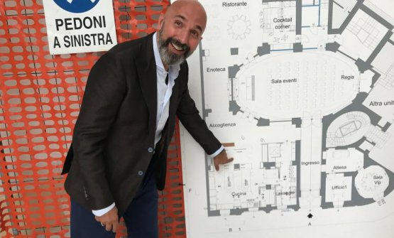 Andrea Ribaldone in June, showing the project plan