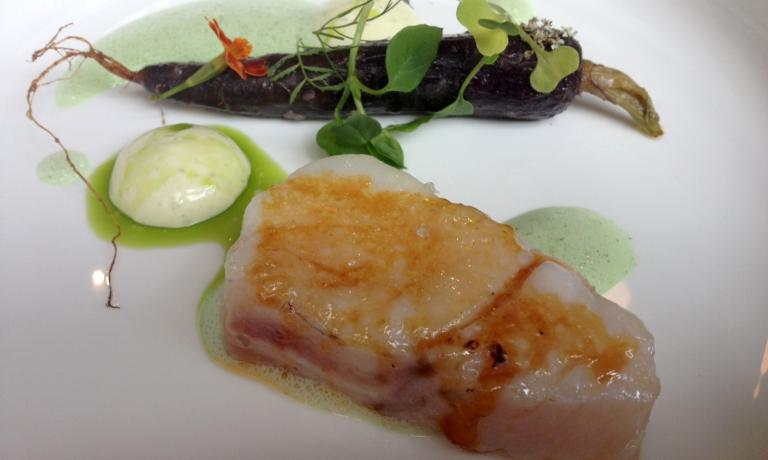 Caramelised cod, carrot, verbena (for all the other dishes, click on the photo-gallery on the top-right corner)