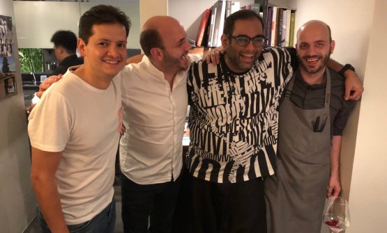Left to right, Jorge Vallejo (Quintonil, Mexico, in Bangkok for a 4-handed dinner with Gaggan),ThomasSühring, Gaggan Anandand Mathias Sühring
