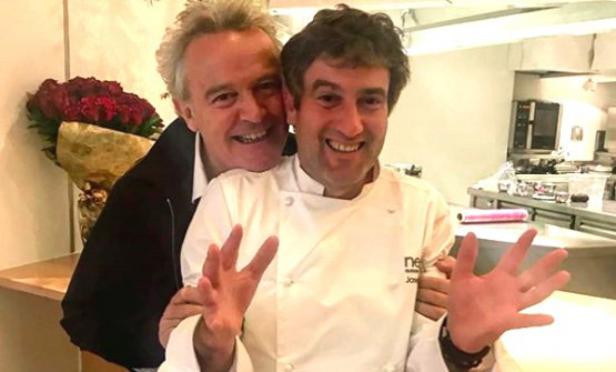 WithAlain Passard, one of the many chefs who visitedNeruaon the occasion of the50Best