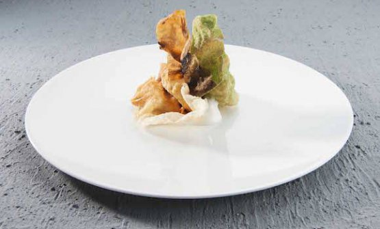 Massimo Bottura, The crispy part of lasagna (photo Brambilla-Serrani)