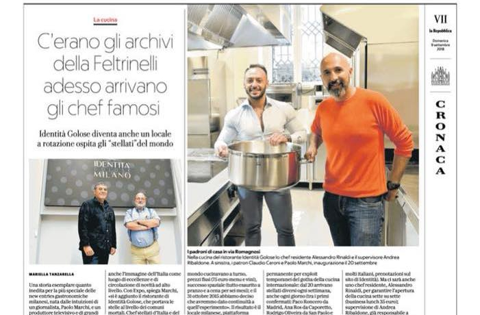 A feature onIdentità Milanopublished a few days ago onLa Repubblica