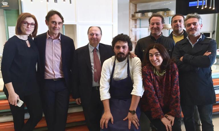 Left to right, Eleonora Cozzella, Piero Gabrieli, Enzo Vizzari, Piergiorgio Parini and Chiara Quaglia