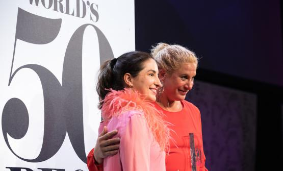 Elena Arzak and Ana Ros. Copyright The World's 50 Best Restaurants