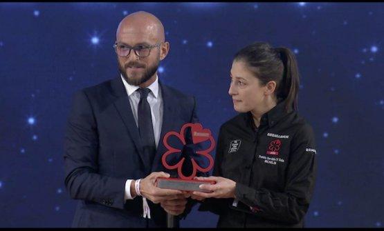 Barbara Manonifrom Casa Perbellini, awarded for theDining room service