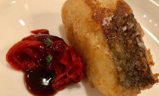 Fried hake withtxoriceropepper