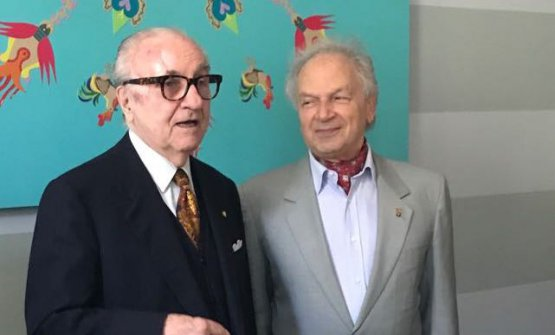 A recent picture of Gualtiero Marchesi and Toni Sarcina