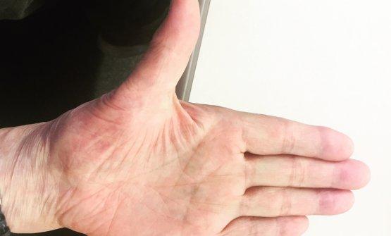 Jiro's hand, he's left-handed