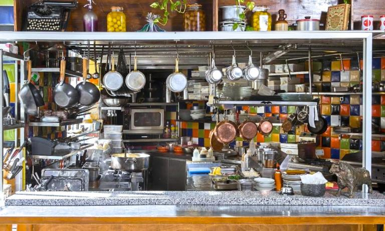 The kitchen of the Machane Yehuda Restaurant, a good place for contemporary cuisine in Jerusalem (10 Beit Ya'akov street, +972.2.5333442)