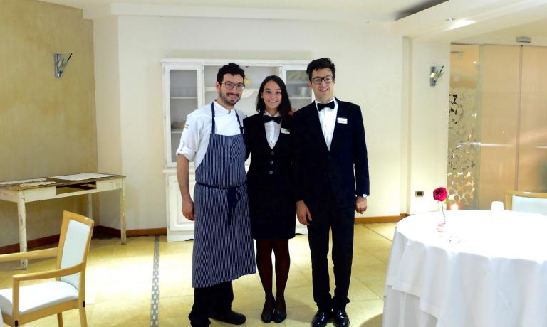 Brothers Antonio and Luca Biafora with Vittoria Nanula, who now works in Paris