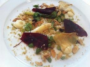 Vegetale salad, the first dish of Baronetto's era at Del Cambio