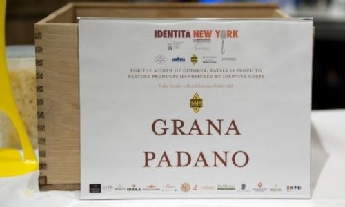 On Thursday 9th October the fifth edition of Identit� New York starts at Eataly. Grana Padano, sponsor since the first edition, this year debuts with Denny Imbroisi, the young testimonial of Progetto Taglio Sartoriale Worldwide, selected during Identit� Milano 2014